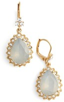 Marchesa Women's Sheer Bliss Pear Drop Earrings