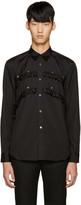 Comme des Garcons Black Studded Ruffle Shirt