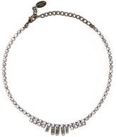 Elizabeth Cole Gunmetal-tone Swarovski crystal necklace