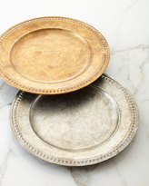 Horchow Beaded-Edge Charger Plate