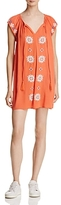 En Creme Embroidered Tunic Dress