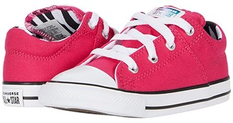 Converse Chuck Taylor(r) All Star(r) Madison Zebra - Ox (Infant/Toddler) (Cerise Pink/Black/White) Girl's Shoes