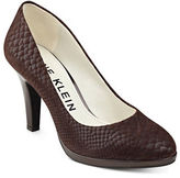 Anne Klein Lolana Snakeskin Patterned Leather Pumps