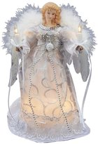 Kurt Adler UL 10-light White And Silver Angel Tree Topper Figurine