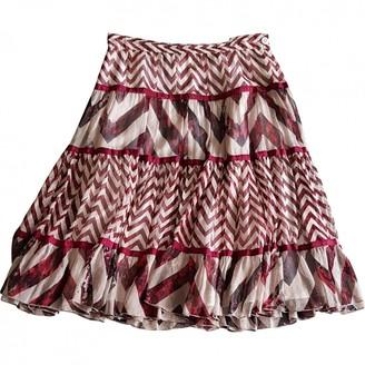 Diane von Furstenberg bordeaux/ecru Silk Skirts