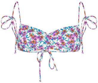 Frankie's Bikinis Floral Print Bikini Top