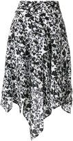 Christian Wijnants asymmetric printed skirt