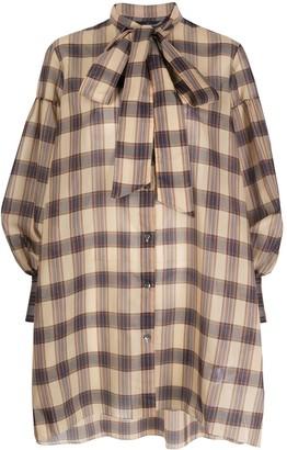 Rokh plaid shirt dress