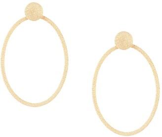 Carolina Bucci Florentine Finish Large Oval Door Knocker Earrings