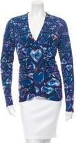 Roberto Cavalli Long Sleeve Heart Print Top