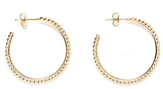 Agnes de Verneuil Hoop Earrings With Pearls - Gold