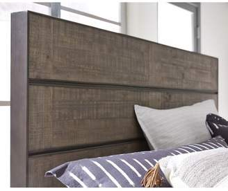 Aahil Metal and Wood Bed Panel Headboard Foundry Select Size: Queen