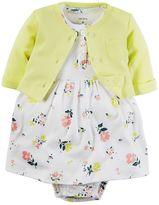 Carter's Baby Girl Floral Henley Dress & Cardigan Set