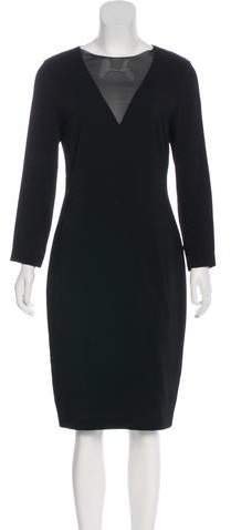Ralph Lauren Black Label Silk-Trimmed Midi Dress
