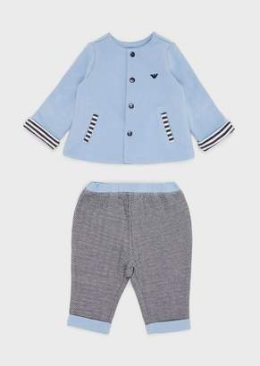 Emporio Armani Gift Set With Cardigan And Trousers