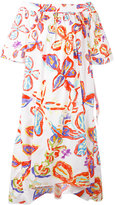 Peter Pilotto floral bardot dress - women - Cotton/Spandex/Elastane - 12
