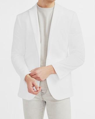 Express White Velvet Tuxedo Jacket