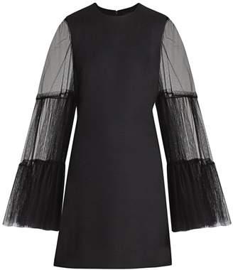 Giambattista Valli Tulle-Sleeve Mini Dress