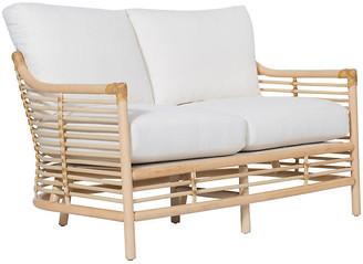 David Francis Furniture Sienna Loveseat - White