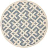 Safavieh Courtyard Collection CY6915-233 and Bone Indoor/ Outdoor Round Area Rug, 7 feet 10 inches in Diameter