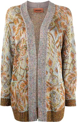 Missoni Sequin Embellished Retro Print Cardigan