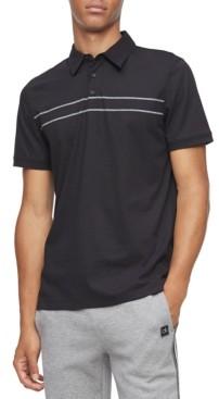Calvin Klein Men's Classic-Fit Engineered Stripe Polo Shirt