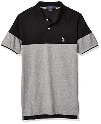 U.S. Polo Assn. Men's Short Sleeve Classic Fit Color Block Jersey Polo Shirt