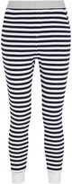 The Upside Yi striped cotton-terry track pants