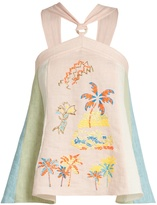 Peter Pilotto Embroidered halterneck top