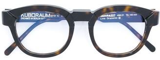 Kuboraum Tortoiseshell Round Glasses