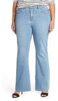 Melissa McCarthy Stretch Flare Leg Jeans (Stella) (Plus Size)