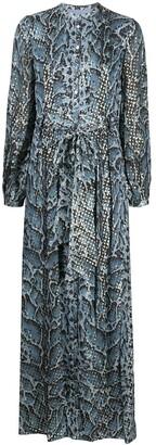Temperley London Ocelot print dress