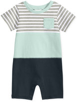 First Impressions Colorblocked Striped Cotton Romper, Baby Boys (0-24 months), Only at Macy's