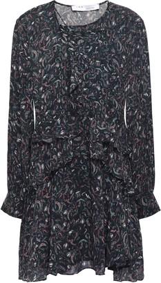 IRO Honess Ruffled Printed Georgette Mini Dress