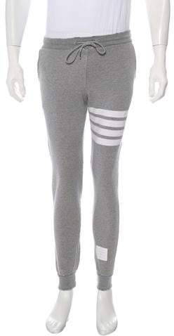 Thom Browne Striped Flat Front Joggers