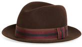 Brooks Brothers Wool Fedora with Stripe Ribbon