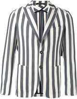 Tagliatore striped blazer - men - Cotton/Linen/Flax/Polyamide/Cupro - 46