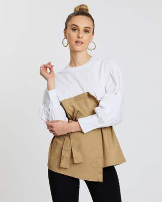 Mossée Molly Two Tone Knot Tie Top
