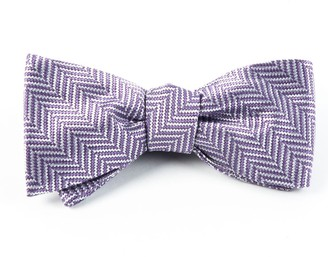 The Tie BarThe Tie Bar Lavender Native Herringbone Bow Tie