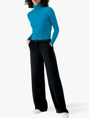 Pure Collection Cashmere Cropped Polo Neck Sweater