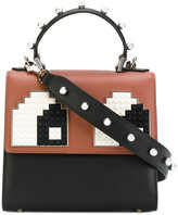 Les Petits Joueurs pixel eyes patched tote - women - Leather - One Size