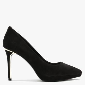 DKNY Lexi Black Suede Platform Court Shoes