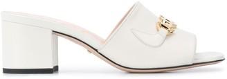 Gucci Horsebit-detail square-toe 65mm sandals