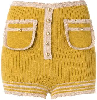 Alice McCall Heaven Help knitted shorts
