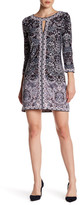 BCBGMAXAZRIA Avila Casual 3/4 Length Sleeve Dress