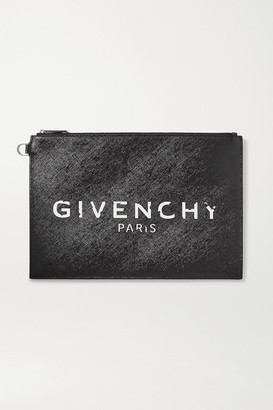 Givenchy Medium Printed Coated-canvas Pouch - Black