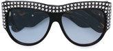 Gucci oversized tortoiseshell embellished glasses