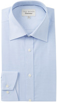 Ted Baker Langar Micro Pattern Trim Fit Dress Shirt
