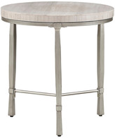 Madison Home USA Reese Round End Table With Marble Veneer Top