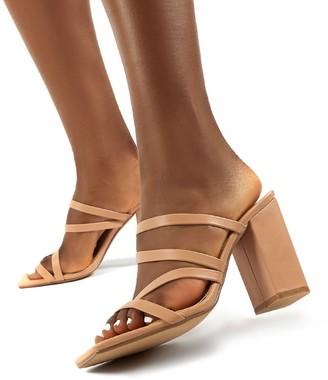 Public Desire Uk Kalia Wide Fit Strappy Block Heel